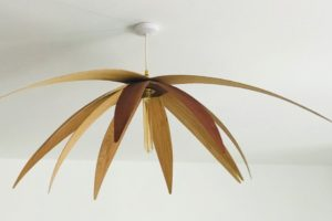 Sapele oak flower light