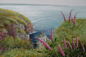 'foxgloves on the cliff' Maria Dowling